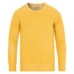 Nudie Jeans Hans Overprint Crew Neck Sun Yellow