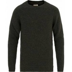 Nudie Jeans Hans Structure Knitted Crew Neck Green