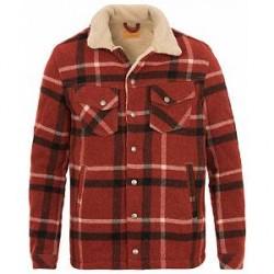 Nudie Jeans Lenny Wool Check Jacket Ruby