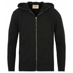 Nudie Jeans Loke Light Zip Hood Black