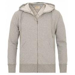 Nudie Jeans Loke Light Zip Hood Grey Melange