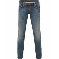 Nudie Jeans Long John Organic Slim Fit Stretch Jeans Orange T