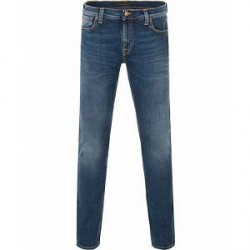 Nudie Jeans Long John Organic Slim Fit Stretch Jeans Tele Blue