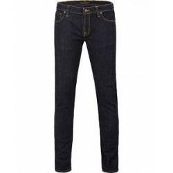 Nudie Jeans Long John Organic Slim Fit Stretch Jeans Twill Rinsed
