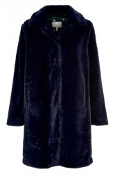 Nümph - Jakke - Etaina Fur Jacket - Night Sky