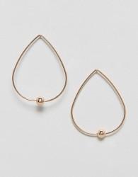 Nylon Ball Hoop Earrings - Gold