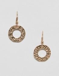 Nylon Brown Hoop Earrings - Brown