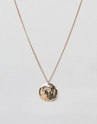 Nylon disc necklac - Gold