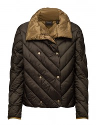 Nylon Double Breasted Quilted Jacket