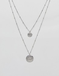 Nylon double layered necklace - Silver