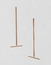 Nylon Drop Earrings - Gold