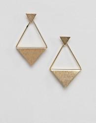 Nylon geometric drop earrings - Gold