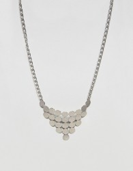Nylon Geometric Necklace - Silver