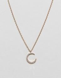 Nylon Moonstone Necklace - Gold
