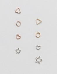 Nylon multipack stud earrings - Multi