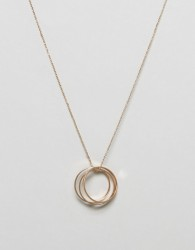 Nylon Pendant Necklace - Gold