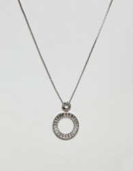 Nylon Pendant Necklace - Silver