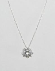 Nylon Simple Sun Burst Necklace - Silver