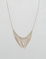 Nylon Statement Drape Necklace - Gold
