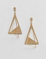 Nylon statement earrings - Gold