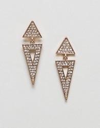 Nylon Stud Earrings - Gold