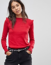 Oaiss Frill Jumper - Red