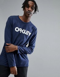 Oakley 50-Mark II Long Sleeve Top Logo Front in Navy - Navy