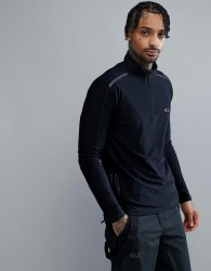 Oakley Training 1/4 Zip Baselayer Sweatshirt Slim Fit Reflective Details in Black - Black