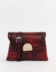 Oasis across body bag in red snake - Multi