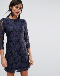 Oasis All Over Lace Shift Dress - Multi