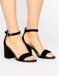 Oasis Ankle Strap Heeled Sandal - Black
