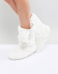 Oasis Bow Slipper - White