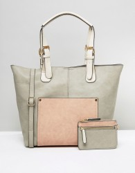 Oasis Buckle Strap Tote Bag And Purse - Gold