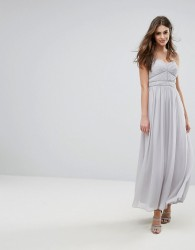 Oasis Chiffon Maxi Dress - Grey