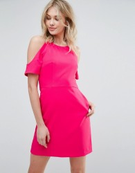 Oasis Cold Shoulder Dress - Pink