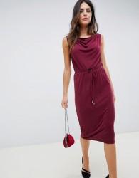 Oasis drape midi dress - Red