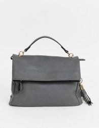 Oasis foldover satchel - Grey
