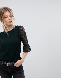 Oasis Lace And Broderie Top - Multi