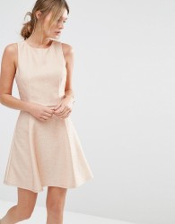 Oasis Metallic Skater Dress - Pink