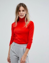 Oasis Polo Neck Jumper - Red