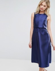 Oasis Premium 2 in 1 Midi Dress - Navy