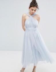 Oasis Premium Tulle Mid Dress - Multi
