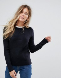 Oasis Ribbed Crew Neck Jumper - Navy