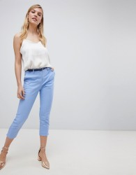 Oasis slim leg cropped trousers in blue - Multi