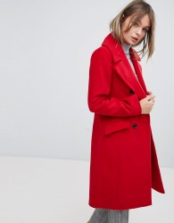 Oasis Tailored Double Breasted Coat - Red