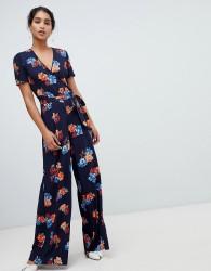 Oasis wide leg jumpsuit in floral print - Multi