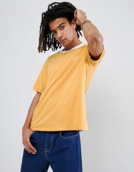 Obey Borstal T-Shirt With Taping In Yellow - Yellow
