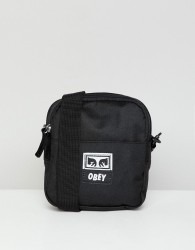 Obey Drop Out Small Flight Bag In Black - Black