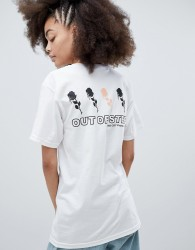 Obey Relaxed T-Shirt With Out Of Step Back Graphic - White