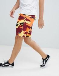 Obey subversion camo shorts in orange - Orange